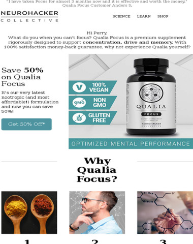 Here's What You're Missing: Qualia Focus