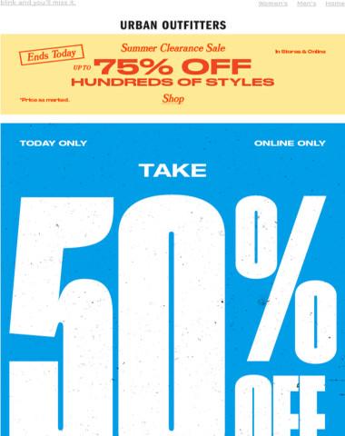 shop the 50% OFF flash sale now!