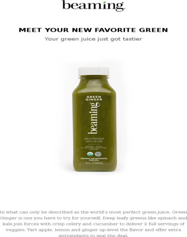 Green Ginger: All the Zing you need to Beam