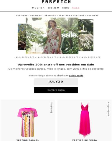Valendo: 20% extra off em Sale | Vestidos para elas & Acessórios para eles