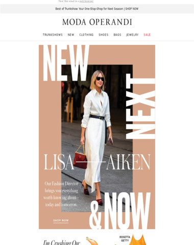 What's new, next & now in fashion