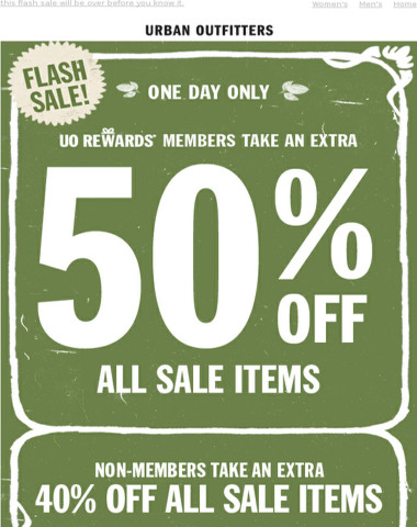 don't blink: 50% OFF starts NOW