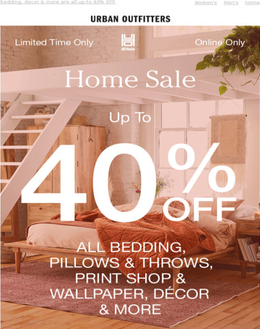 HOME SALE: get up to 40% OFF!