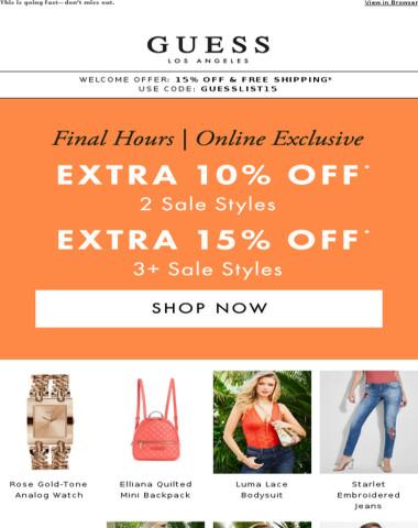 Final Hours: Sale On Sale