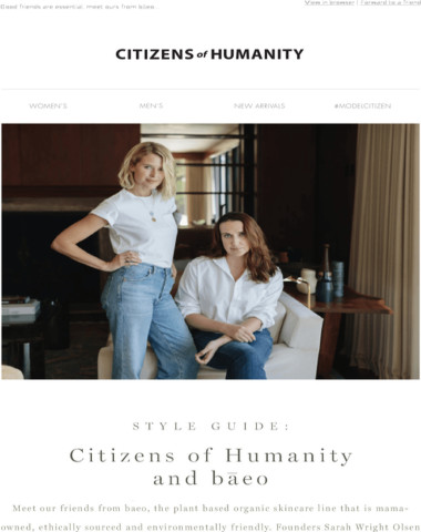 Style Guide: Citizens of Humanity & bāeo