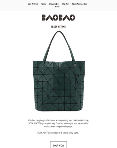 The bag that does it all: ROCK MATTE
