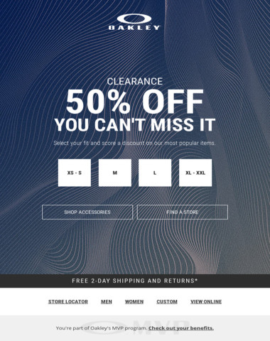 50% Off Selected Items - You Can't Miss It