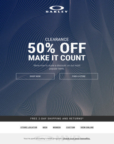 50% Off Selected Items - Make It Count