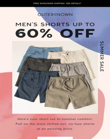 Get up to 60% OFF shorts today!