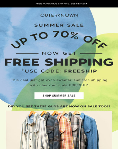 Free Shipping. Up to 70% Off. Does it get any better?