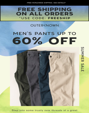 NICE! Pants now up to 60% OFF!