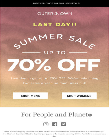 Heads Up! SALE ENDS TODAY!