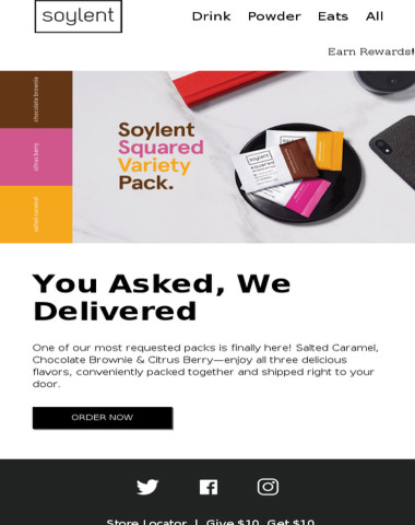 It's finally here—Soylent Squared Variety Pack