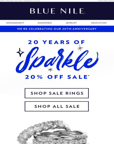 20% Off In Honor Of Our 20th Anniversary!