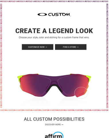 Customize Your Own Oakley Frame.