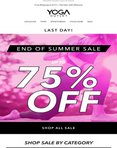 [HURRY] UP TO 75% OFF ENDS TODAY ⏰