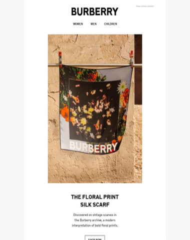 The Floral Print Silk Scarf