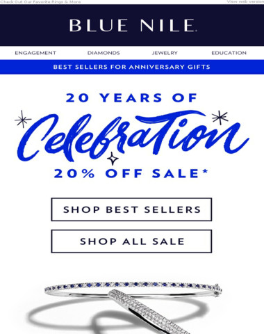 Anniversary Sale! 20% Off Our Best Sellers