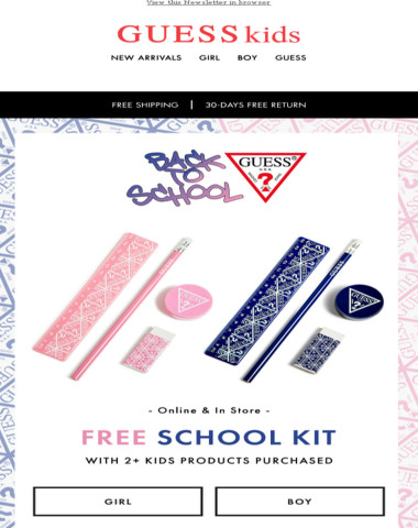 As GIFT for you the new School Kit! Find out more...