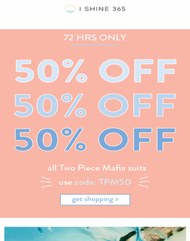 save + splurge with 50% OFF ?