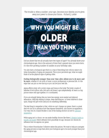Why You Might Be Older Than You Think