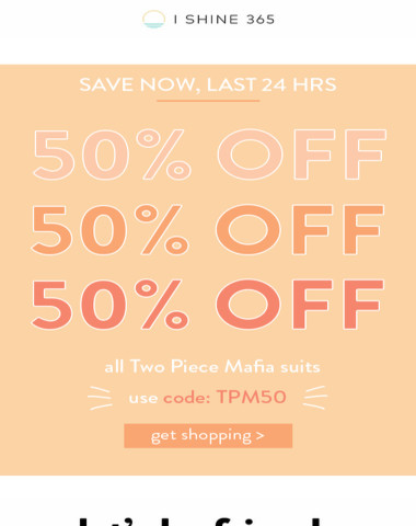 don't miss out on 50% OFF ?