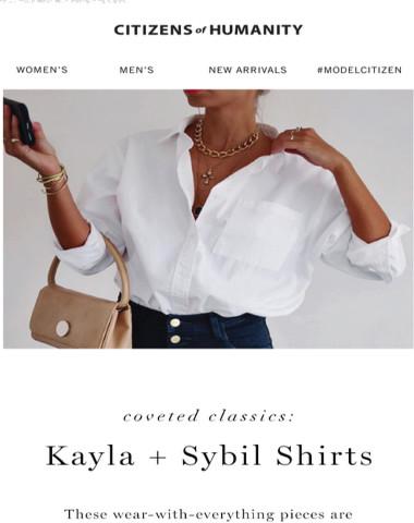 Coveted Classics: Kayla + Sybil Shirts