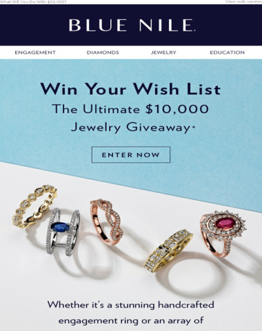 Enter To Win Your $10,000 Wishlist From Blue Nile!