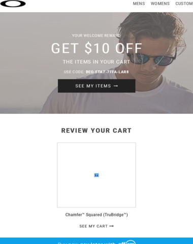 Get $10 Off Items in Your Cart