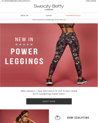 NEW: Power Leggings perfect for fall