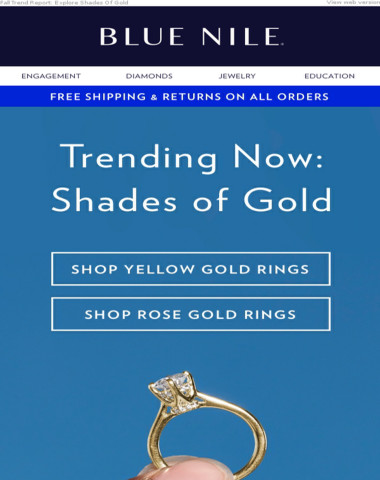 Trending Now: Rose Gold & Yellow Gold Engagement Rings