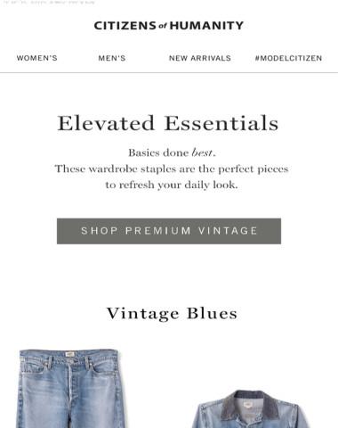 Vintage Edit: Elevated Essentials