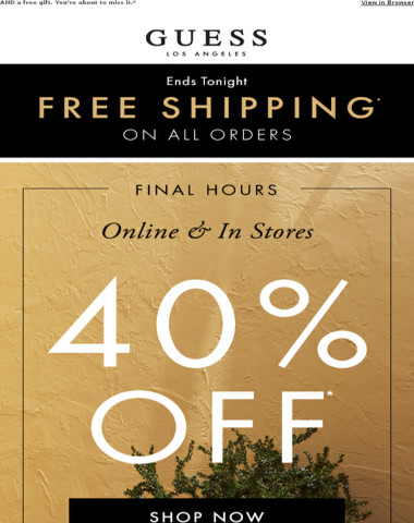 Final Hours / Free Ship / 40% Off