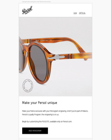 Three Letters To Make Your Persol Unique