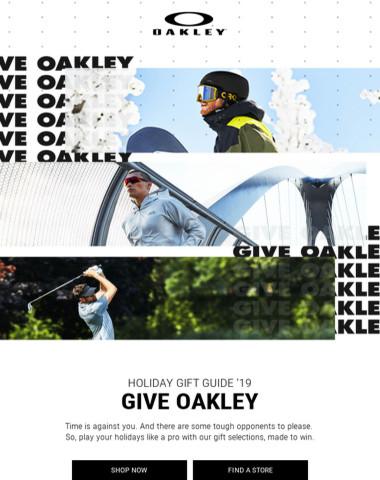 Play Holidays Like A Pro? Give Oakley