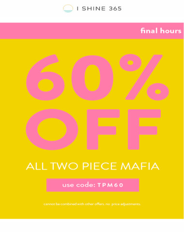 final hours to get these at 60% OFF