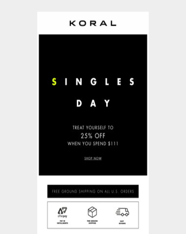 Celebrate Singles Day with....