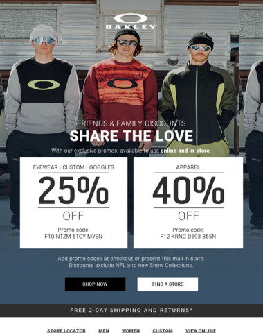 Exclusive Discounts - Share The Love ?