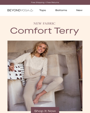 INTRODUCING: Comfort Terry
