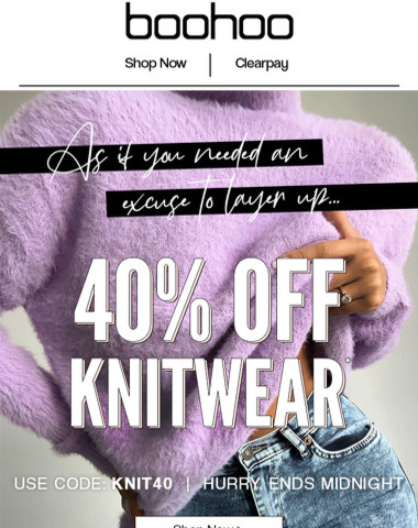 EXCLUSIVE: Stay Cosy With 40% Off