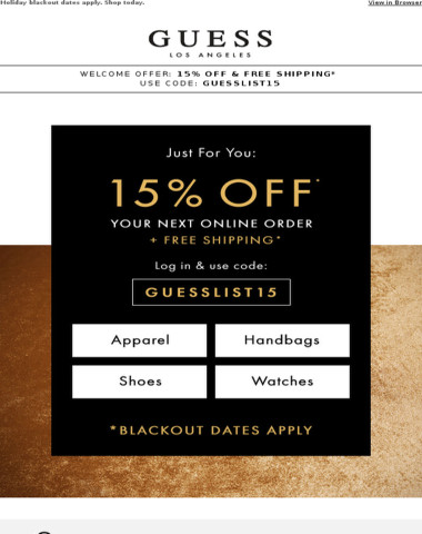 Don't Miss 15% Off