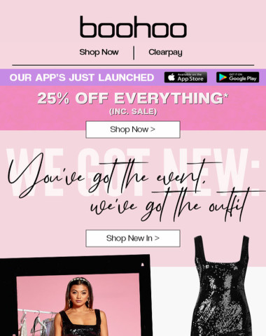 25% Off Your New Dress ?