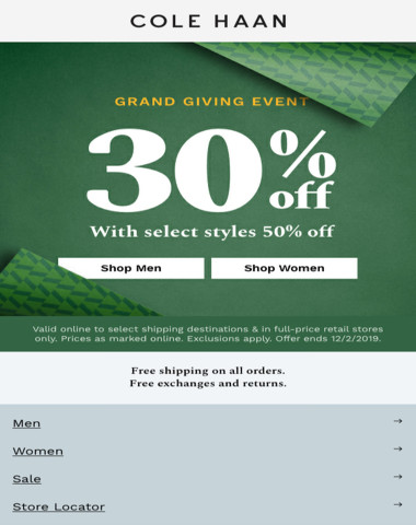 30% off starts now!