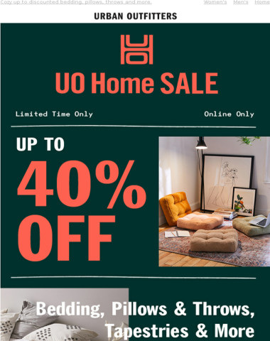 HOME SALE! Up to 40% OFF
