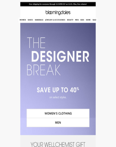 Save up to 40% on designer styles