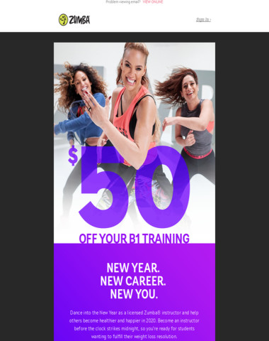 Kick Off 2020! ? $50 Off Your Zumba Instructor Training! ?