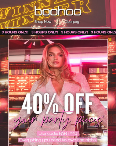? 40% OFF ALL PARTYWEAR ?