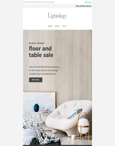 SALE: Floor & Table Lamps