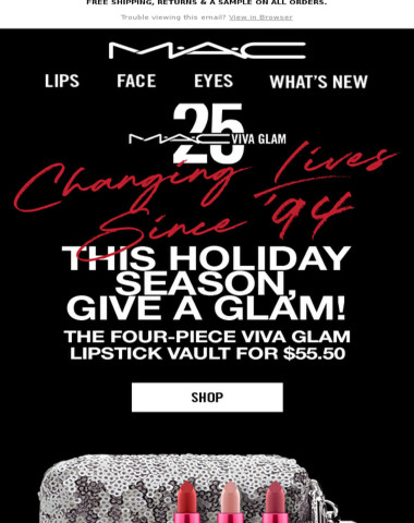 NEW VIVA GLAM Lipstick Vault is a gift that gives back.