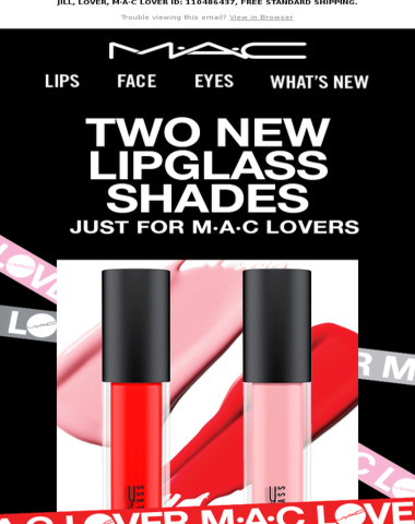 JUST DROPPED: Two new EXCLUSIVE Lipglass shades!